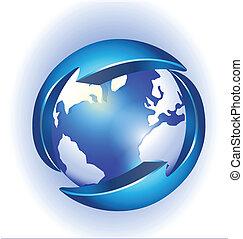 Verbindung zum Weltlogovektor