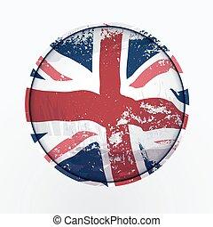 Vereinigte Königreich Grunge Flagge.