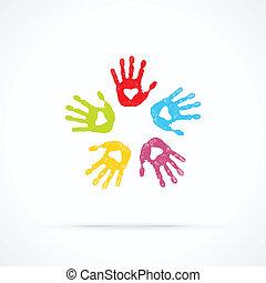 Vereint liebende Hände