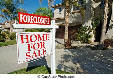 Verkauf von Immobilien und Haus.