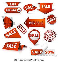 Verkaufskarten, Etiketten, Briefmarken, Sticker, Ecken, Etiketten