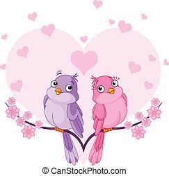 Verliebte Vögel