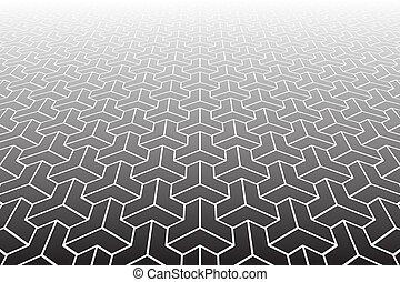 Verminderte Perspektive. Geometrischer Hintergrund.