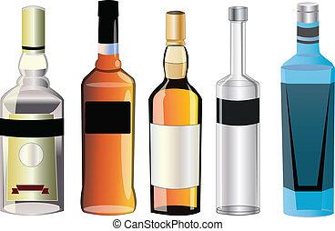 Verschiedene Alkoholsorten