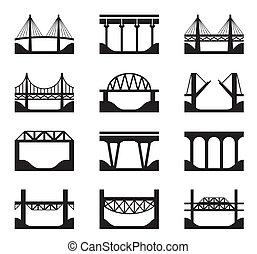Verschiedene Arten von Brücken.