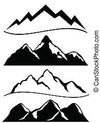 Verschiedene Berge.