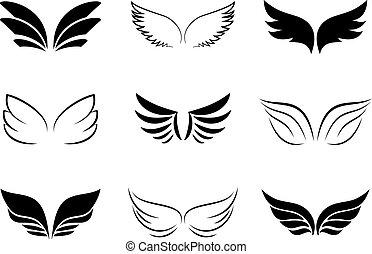 Verschiedene Flügeldesigns.