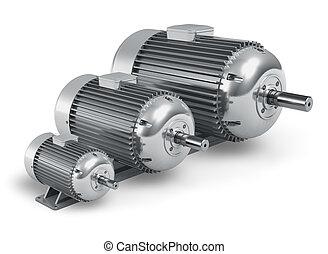 Verschiedene industrielle Elektromotoren