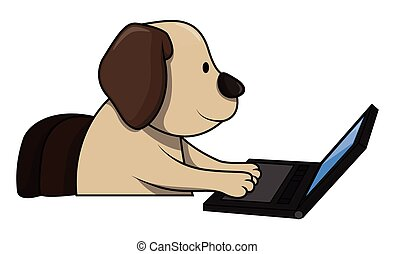 verwenden computers, hund