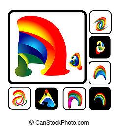 Vibrant Alphabet Buchstaben ein Logo