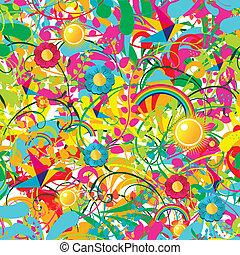 Vibrantes Blumensommermuster