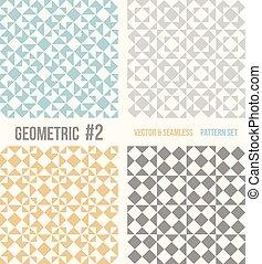 Vier geometrische Muster
