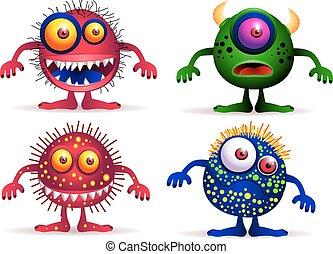 Vier süße Kreaturen.