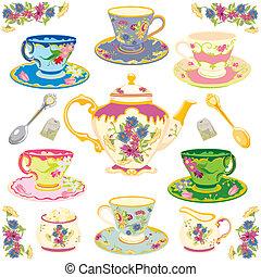 Viktorianischer Teeservice