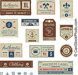 Vintage-Bekleidungsmarken.