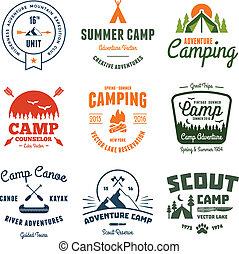 Vintage Camp-Grafiken.
