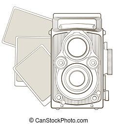 Vintage Fotokamera mit Vignette