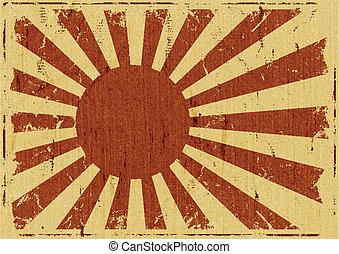 Vintage-Japan-Flaggelandschaft