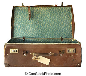 Vintage-Koffer geöffnet