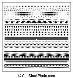 Vintage Line Grenzset und Design Element.