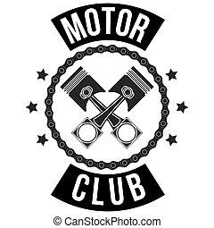 Vintage Motor Club Zeichen und Label