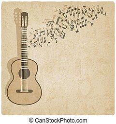 Vintage Music Gitarre Hintergrund