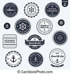 Vintage nautische Etiketten
