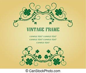 Vintage Rahmen mit Klee.