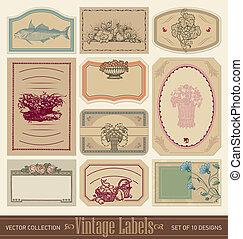Vintage-Road-Label eingestellt (Vektor)