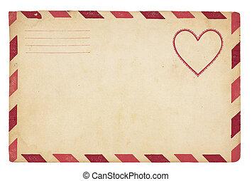 Vintage valentine Umschlag