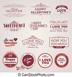 Vintage valentines Tagesetiketts