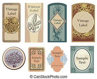 Vintage-Vektor-Labels.