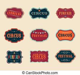 Vintage-Zirkus-Label.