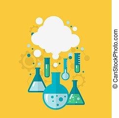 Vorlage von chemischen Experimenten mit verschiedenen Tests, die kond