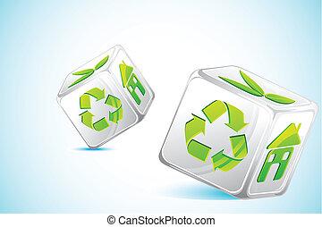 Würfel recyceln