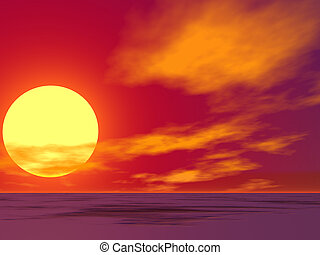 wüste, sonnenaufgang, rotes