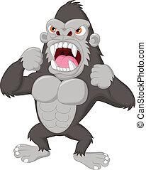 Wütend Gorilla-Zeichenfigur