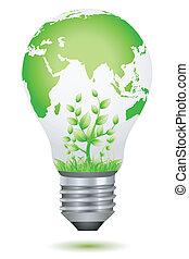 wachsen, birne pflanze, global, innenseite
