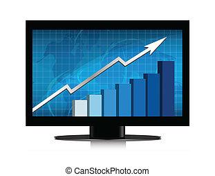 Wachstumsgrafik überwachen