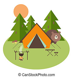 wald, camping