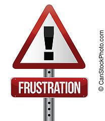 Warnzeichen mit einem Frustrationskonzept