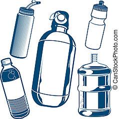 wasser- flasche, sammlung