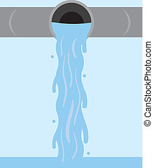 Wasser fließendes Rohr