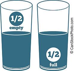 wasser, zwei, brille