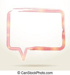 Wasserfarbener Sprachblasenhintergrund. Vector