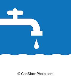 Wasserfaucet silhouette weiß