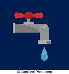 Wasserhahntropfen.