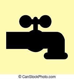Wasserhahnzeichen