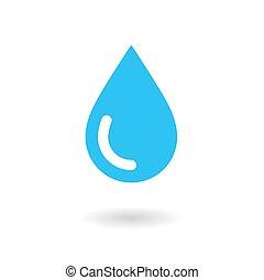 Wassertropfen. Icon. Vector