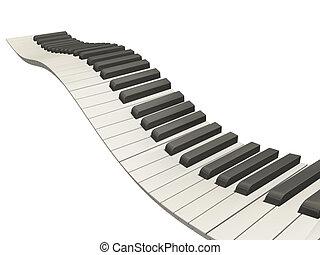Wavy Klavierschlüssel